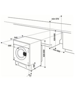 Whirlpool BI WMWG 71484E EU inbouw wasmachine