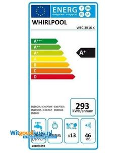 Whirlpool WFC 3B16 X vaatwasser