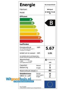 Whirlpool BI WDWG 75148 EU was-droogcombinatie