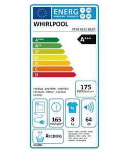 Whirlpool FTBE M11 8X3B wasdroger