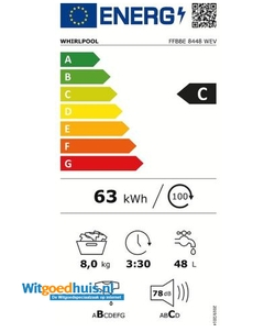 Whirlpool FFBBE 8448 WEV wasmachine