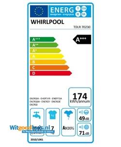 Whirlpool TDLR70230 wasmachine