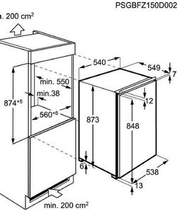 Zanussi ZBF11421SA inbouw koelkast
